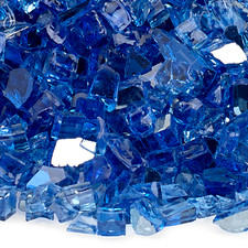 1/4 inch Cobalt Reflecting Premium Fire Glass