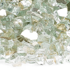 1/4 inch Platinum Reflecting Premium Fire Glass