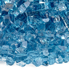 1/4 inch Pacific Blue Classic Fire Glass