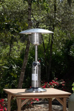 Fire Sense Well Traveled Living Stainless Steel Table Top Patio Heater - 60262