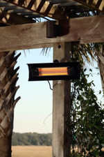 Fire Sense Well Traveled Living Black Steel Wall Mounted Infrared Patio Heater - 60460