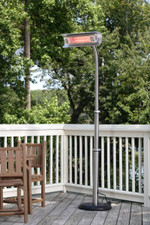 Fire Sense Well Traveled Living Stainless Steel Telescoping Offset Pole Mounted Infrared Patio Heater - 2117