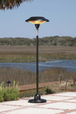Fire Sense Well Traveled Living Hammer Tone Bronze Floor Standing Round Halogen Patio Heater - 60514