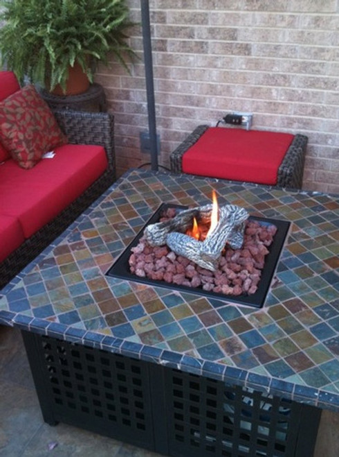 Blue Rhino Lp Gas Outdoor Firebowl With Slate Marble