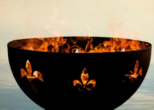 """Fire Pit Art 36"""" Fleur de Lis Lily Flower - FDL"""