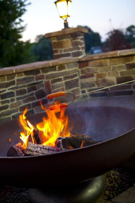 Ohio Flame Patriot 42 Quot Diameter Fire Pit Natural Steel