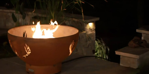 "Fire Pit Art Antlers 36"" Natural Gas or Propane Fire Pit - ANTLERSGAS"