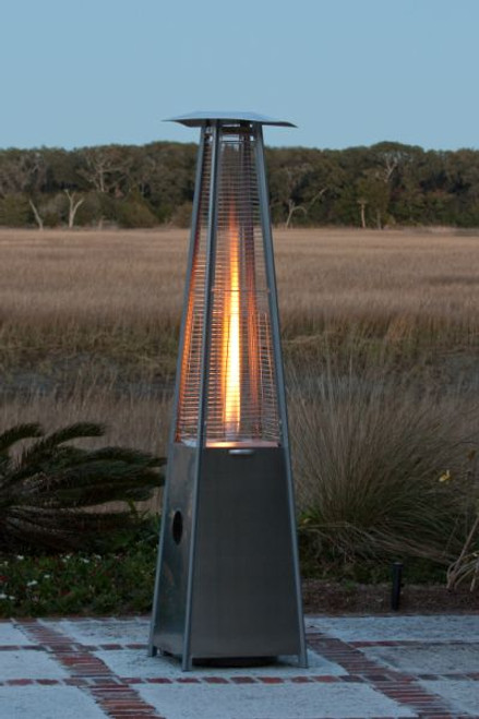 Fire Sense Well Traveled Living Stainless Steel Pyramid Flame Heater - 60523