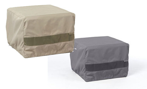 Durable Square Fire Pit Cover Khaki - Charcoal - 42W x 42D x 25H - F38
