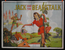 20) JACK AND THE BEANSTALK FAIRY TALE VAUDEVILLE LITHOGRAPH POSTER 1930's.