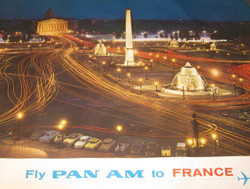 Fly Pan Am to France 1965