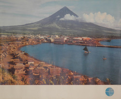 05) PAN AM  Mt Mayon Volcano  Legazpi City Phillipines 1965