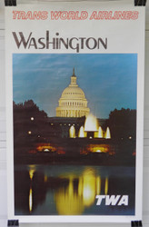 23) Washington D C Trans World Airways TWA 1970s