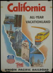 43 - UNION PACIFIC RAILROAD CALIFORNIA VACATION LAND 1950