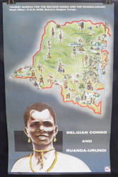 47 - Belgian Congo and Ruanda-Urundi, Original African Travel Poster 1950's