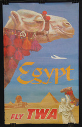 21 EGYPT FLY TWA  DAVID KLEIN  1960