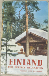 45 - FINLAND FOR PERFECT RELAXATION 'FINNISH STATE RAILROADS' 1959