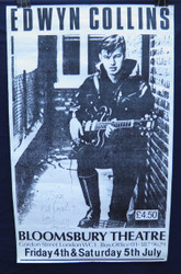 04) EDWYN COLLINS SIGNED VERY EARLY  CONCERT POSTER 1986