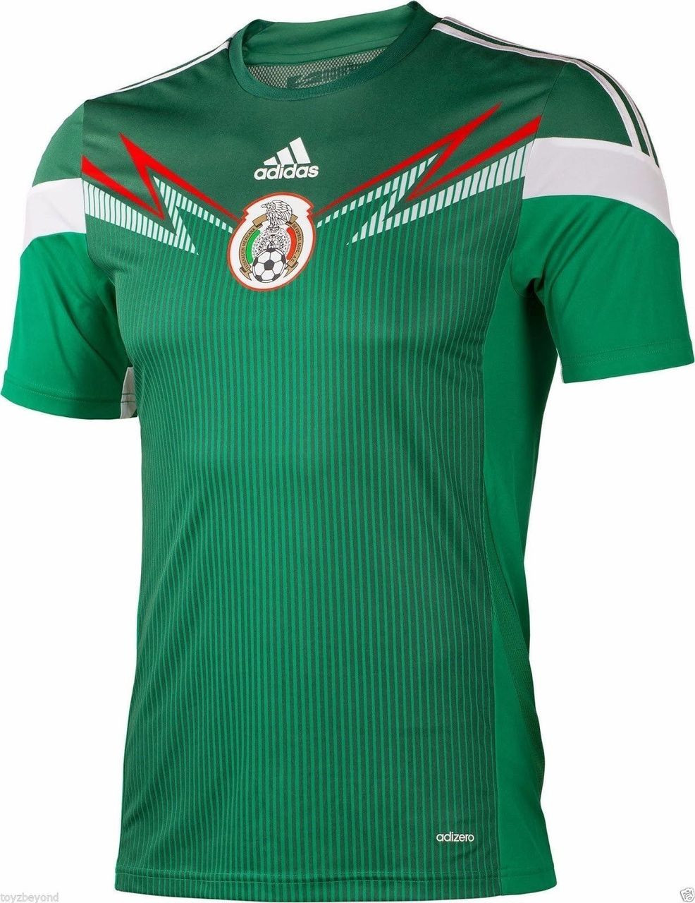 949c42faf ADIDAS Mexico World Cup 2014 Home Soccer Jersey Green. Price   69.99. Image  1