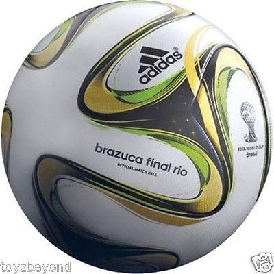 cheap for discount ef033 1e5e5 adidas Brazuca World Cup Final Rio Top Glider Ball Replica Size 5