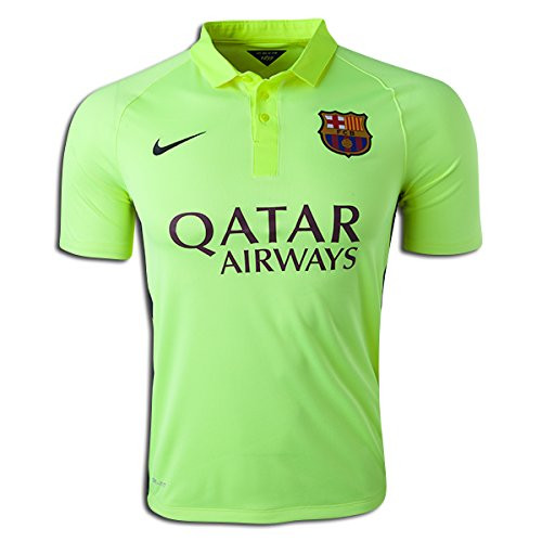 Nike FC Barcelona 3rd Match Jersey 2014-15 Lime Color NEW Authentic ... 851684c95