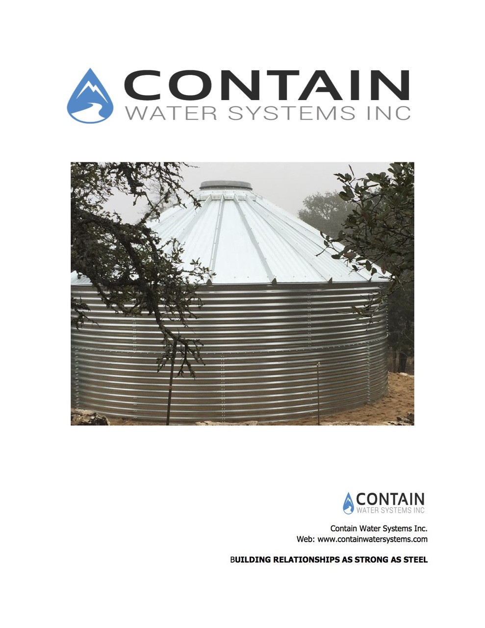 Contain Water Storage Tanks