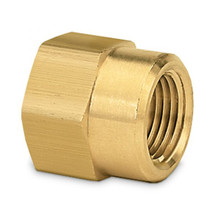 "Brass Hose Swivel Adapter (1/2"" FPT x 3/4"" FHT)"