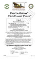 Phyta-Grow Pre-Plant+ 7-5-7 , 50 lb bag, organic fertilizer, organic gardening