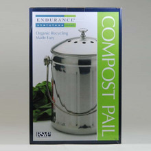 Stainless Steel Compost Pail, organic gardening