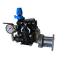 """Includes a Pressure Regulator with manual dump lever and a Gear Reducer for mounting to a gas engine with a 3/4"""" shaft."""
