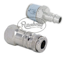For attaching to spray hoses and spray guns in lawn spraying applications.