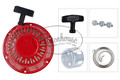 Includes Starter Assembly, Recoil Flange Bolts (3), Starter Handle & Starter Spring.