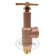 """This relief valve has 1/2"""" ports and a solid brass body with hardened stainless steel valve seats."""