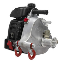 Portable, lightweight winch weighs only 35 lbs. Carry it in places where heavy machinery can't fit.