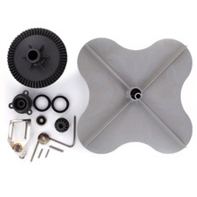 Complete rebuild kit for the Lesco 101186 Spreader includes parts to replace the gear, impeller, and agitator assembly.