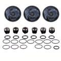 This complete repair kit for the Hypro D403 includes the Buna diaphragms, as well as the valves and o-rings.