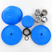 Complete repair kit for the Hypro D50 includes the new BlueFlex diaphragms, which are exceptional at handling some agricultural chemicals and aggressive fluids.