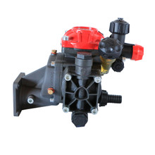 This medium pressure sprayer pump includes a regulator and gearbox for 5.5 HP gas engine attachment. Similar to the Hypro D252GRGI.