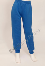 Light Royal Blue Fleece Cuffed Jog Bottoms