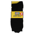 Pex 5 Pack Short Socks Black