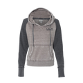 J. America - Women's Zen Fleece Raglan Hooded Pullover Sweatshirt
