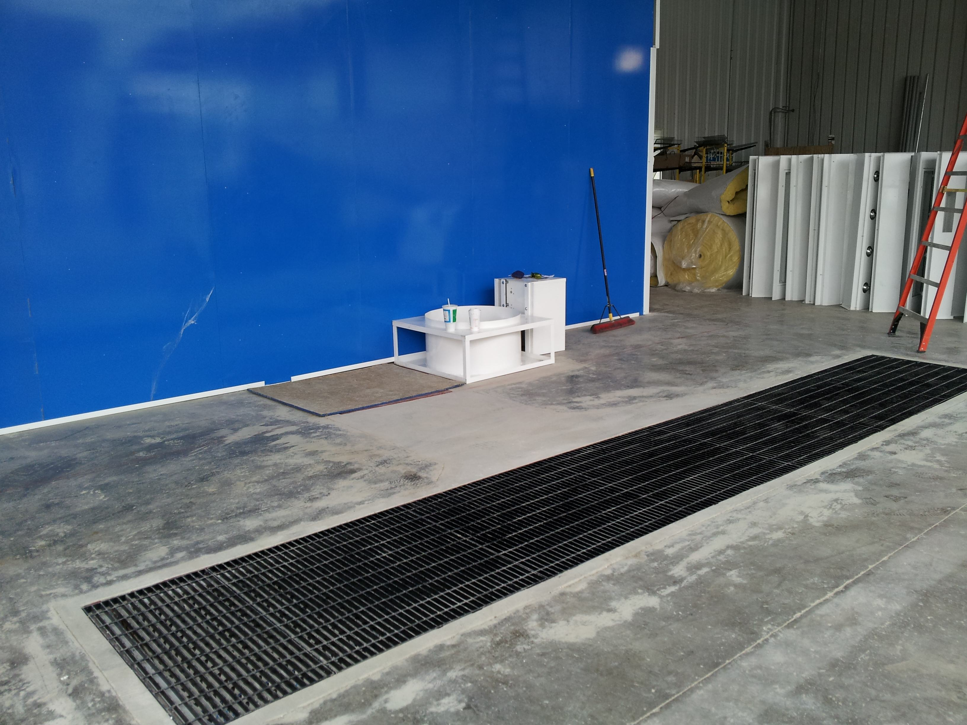 Example of Pit Before Paint Booth Installation