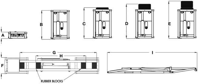 Automotive Lifts Dimensions : Ranger bl slx quickjack lbs capacity