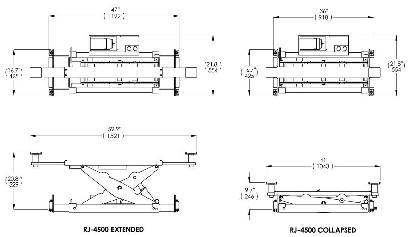 Bendpak Rbj4500 4 500 Lb Capacity Rolling Bridge Jack