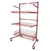 Auto Body Parts Cart Caddy Pro Deep Basket