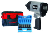AirCat 1777K 1777 Kit includes 8 Piece Deep Socket Set & AIRCAT Bag