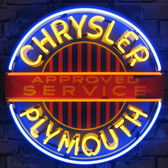 Neonetics 5CRYPL Chrysler Plymouth Neon Sign With Backing