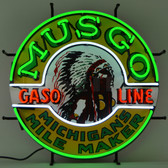 Neonetics 5GSMUS Gas - Musgo Gasoline Neon Sign