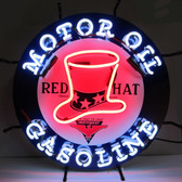 Neonetics 5GSRHT Gas - Red Hat Gasoline Neon Sign