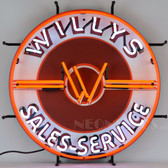 Neonetics 5JEEPW Jeep Willys Sales Service Neon Sign
